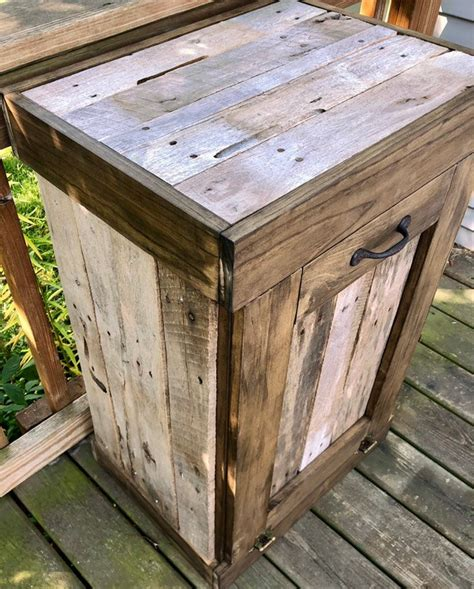 Wooden Trash Can Holder Diy
